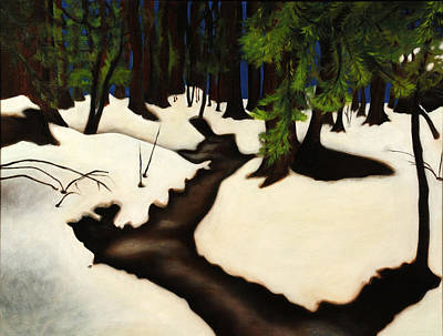 Redwood Walk Poster by Jane Yuen Corich