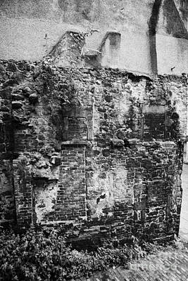 Remains Of An Old Historic House With Multiple Fireplaces In The Wall Of The Old Town Aberdeen Scotl Poster by Joe Fox