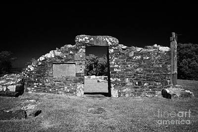 Remains Of The 6th Century Church On The Monastic Site At Nendrum On Mahee Island County Down Poster by Joe Fox