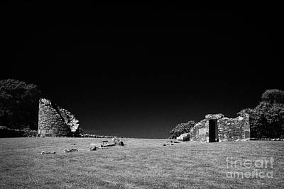 Remains Of The 6th Century Monastic Site At Nendrum On Mahee Island County Down Northern Ireland Poster by Joe Fox