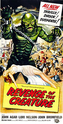 Revenge Of The Creature, As The Gill Poster by Everett
