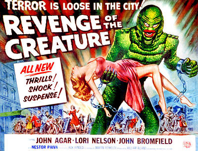 Revenge Of The Creature, Lori Nelson Poster by Everett
