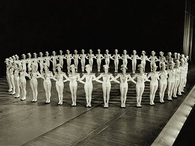 Ring Of Rockettes Poster by Archive Holdings Inc.