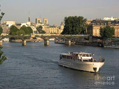 River Seine In Paris Poster by Bernard Jaubert