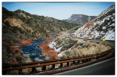 Road To Taos Village 1 Poster by Lisa  Spencer