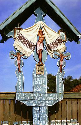 Roadside Crucifix I Poster by Emanuel Tanjala