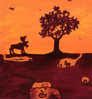 Roaming Moose Poster by Jera Sky