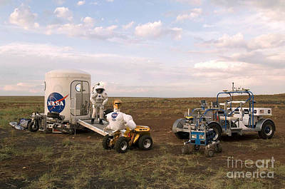 Robonaut Field Testing Poster by NASA / Science Source