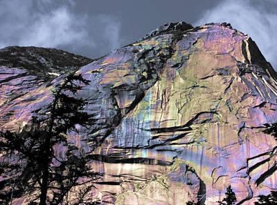 Rock Face On The Coquihalla Poster by Barbara  White