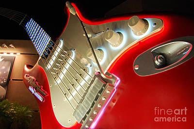 Rocknroller Coaster With Aerosmith Guitar Hollywood Studios Walt Disney World Prints Accented Edges Poster by Shawn O'Brien