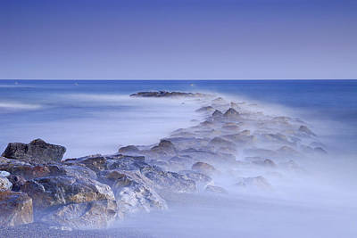 Rocks Fighting Against The Waves Poster by Guido Montanes Castillo