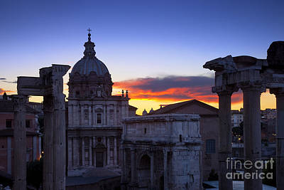 Roman Forum At Dawn Poster by Brian Jannsen