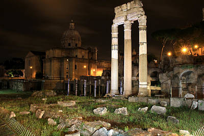 Roman Ruins 1 Poster by Andrew Fare