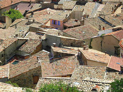 Roofs Of Provence Poster by Bernard Gaillot