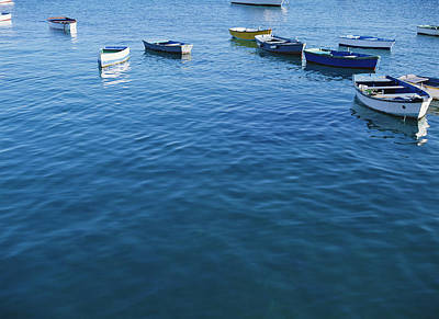Row Boats In Harbor, Lanzarote Poster by Axiom Photographic
