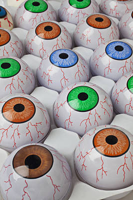 Rows Of Eyeballs Poster by Garry Gay