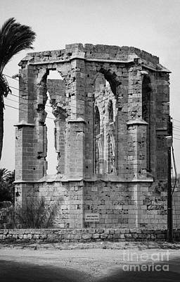 Ruined Church Of St George Of The Latins Famagusta Turkish Republic Of Northern Cyprus Trnc Poster by Joe Fox