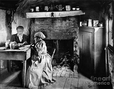 Rural Couple Eating, C1899 Poster by Granger