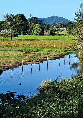 Rural Landscape After Rain Poster by Kaye Menner