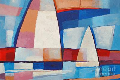 Sailing Along Poster by Lutz Baar