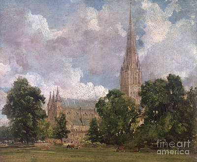Salisbury Cathedral From The South West Poster by John Constable