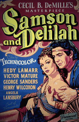 Samson And Delilah, Hedy Lamarr, Victor Poster by Everett