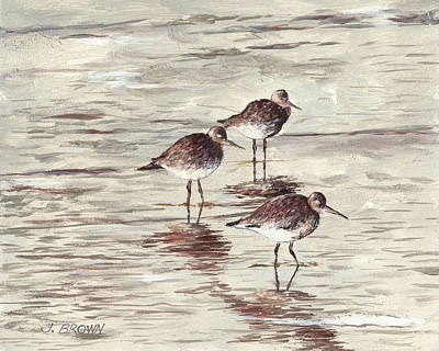 Sandpipers Poster by John Brown