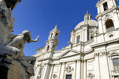 Sant' Agnese In Agone. Piazza Navona. Rome Poster by Bernard Jaubert