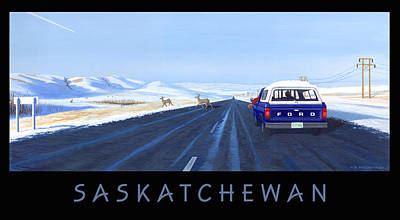 Saskatchewan Beauty Poster Poster by Neil Woodward