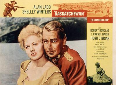 Saskatchewan, Shelley Winters, Alan Poster by Everett