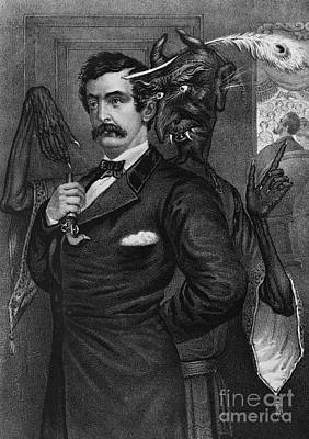 Satan Tempting John Wilkes Booth Poster by Photo Researchers