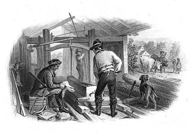 Sawmill, C1870 Poster by Granger