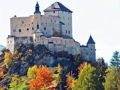 Schloss Tarasp Switzerland Poster by Joseph Hendrix