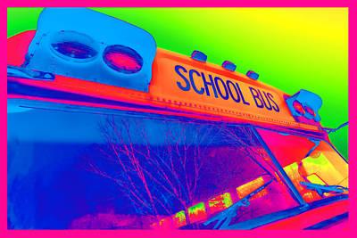 School Bus Poster by Gordon Dean II