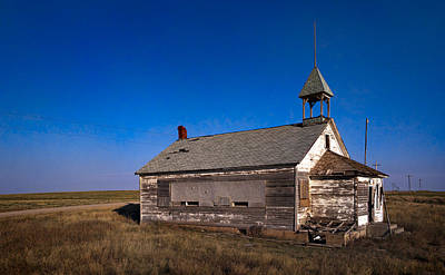 School House Poster by Grant Groberg
