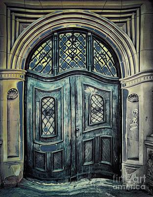 Schoolhouse Entrance Poster by Jutta Maria Pusl
