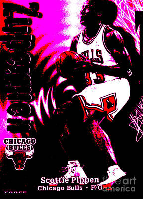 Scottie Pippen Poster by Marsha Heiken