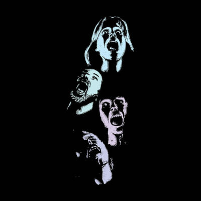 Screaming Faces Poster by Karl Addison