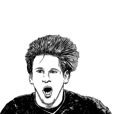 Screaming Man Poster by Karl Addison