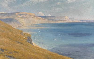 Sea And Sunshine   Lyme Regis Poster by Sir Frank Dicksee