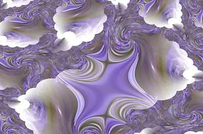 Sea Of Lavender Poster by Maria Urso