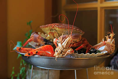 Seafood Platter Poster by Louise Heusinkveld