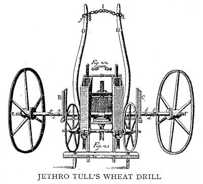 Seed Drill, 18th Century Poster by Granger