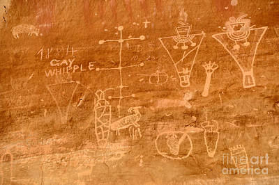 Spirtual Poster featuring the photograph Sego Canyon Petroglyphs by Gary Whitton