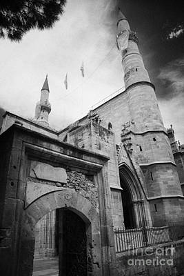Selimiye Mosque Formerly Saint Sophia Cathedral Nicosia Lefkosia Trnc Turkish Cyprus Poster by Joe Fox