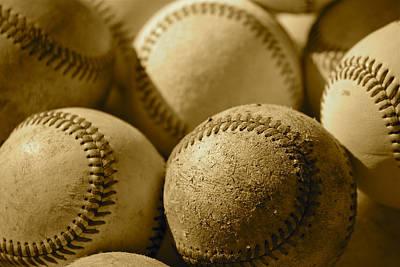 Sepia Baseballs Poster by Bill Owen
