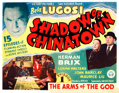 Shadow Of Chinatown, Top Left Bela Poster by Everett