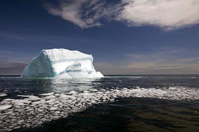 Shattered Ice From Iceberg Floating Poster by John Sylvester