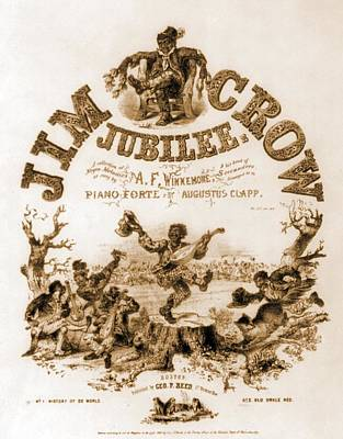 Sheet Music Cover Titled, Jim Crow Poster by Everett