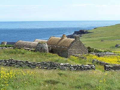 Shetland Croft House Museum Poster by George Leask